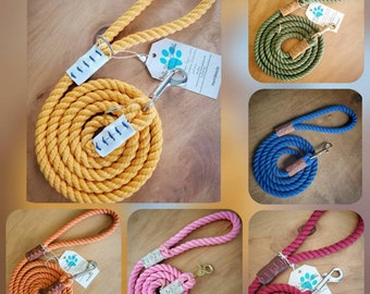 Solid Color Rope Leash (Made to order)
