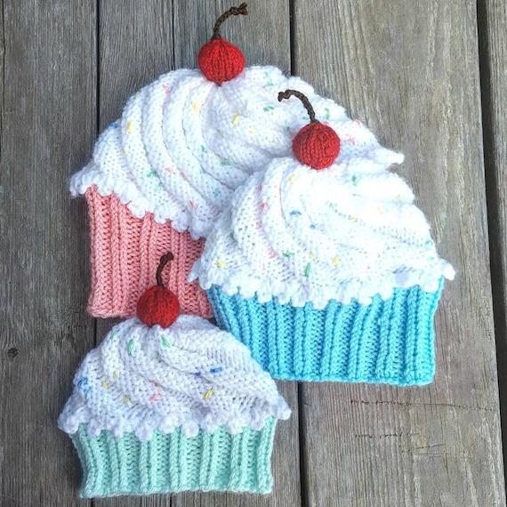 5e3ebc63e Cupcake Baby Hat Newborn Photo Prop Baby Shower Gift Baby