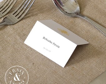 Manchester Worker Bee Themed Wedding Table Place Names