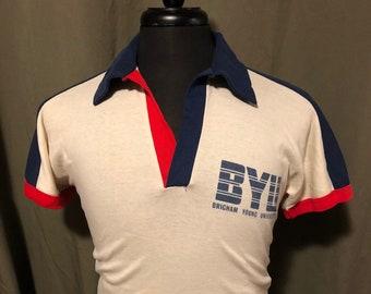 Vintage Brigham Young University Polo/Knit Shirt, Size: Medium