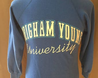 Vintage Brigham Young University (BYU) Sweatshirt, Size: Small