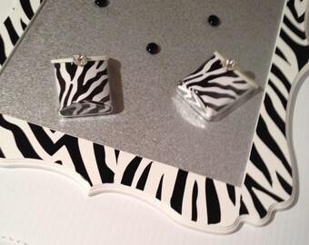 Zebra Stripe MagnetBoard,Magnetic Make-up Organizer,Zebra,Magnet Board for Girls,Decorative Magnet Board,Bedroom,Animal Print,Magnets,