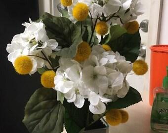 Elegant White Hydrangea Arrangement