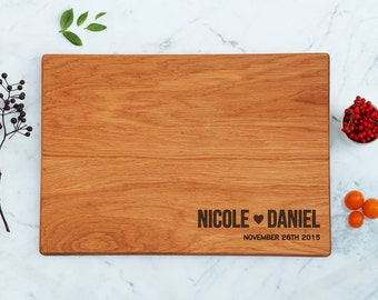 Newly Engaged Cutting Board Personalized Couple Names Wedding Gift Best Friend Engraved Bridal Shower Gift For Her Most Sold Items His & Her
