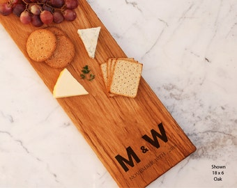 Customized Cheese Board Personalized Initials Monogram Couple Present Bridal Shower Gift For Her Best Friend Engagement Valentine Gift Ideas