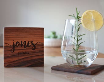 Personalized Coasters Wooden Drink Customized Wedding Coasters Gift Ideas For Friends Husband, Groomsmen, Gift For Women, For  Her, Birthday