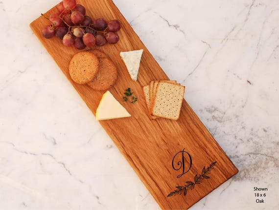 Custom Engagement Gift For Bride Bread Board Monogram Cheese Board Wood Gifts Personalized Serving Board Bridal Shower Wedding Gift
