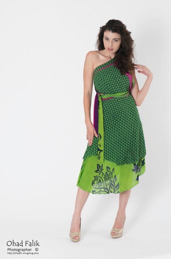 Green Chiffon Dress Prom Dress Boho Dress Evening Dress   Etsy