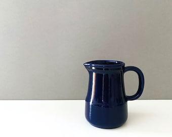 Vintage jug Jasba, ceramic jug, blue jug, retro tableware, 50s