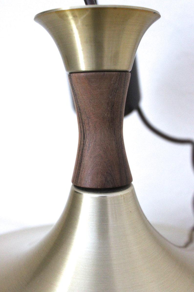Lack Lamp Vitrika pendant lamp home decor brass glass teak Danish Design vintage interior Modernist Lamp Tulip
