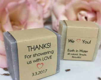 Wedding Shower Favors, Customized Favors, Wedding Shower Soap Favors, Shower giveaways, soap favor, Thank you gifts