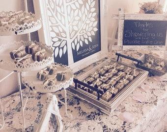 Wedding favors, 80 mini soap favors, baby shower favors