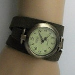 Womens Watch Wrap Style, Minimalist Watch for Woman, Watches for Women, Ladies Watch Bracelet , Olive Green Wrap Band Watch