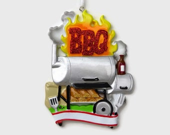 BestPysanky BBQ Barbecue Grill Cookout Glass Christmas Ornament