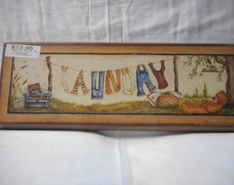 Laundry clothesline sign