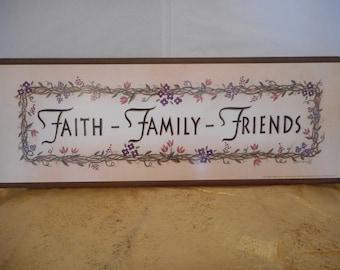 Faith-Family-Friends Sign