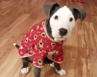 large breed dog pajamas flannel lounge wear sleepwear pjs made to order custom size size s to xxl