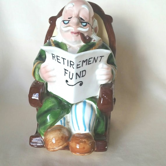 Pleasing Bank Grandpa In Rocking Chair Retirement Fund Ceramic Bank Squirreltailoven Fun Painted Chair Ideas Images Squirreltailovenorg