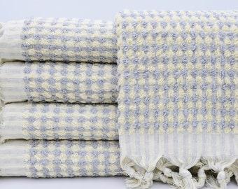 "Turkish Towel,Beach Towel,Gray Towel,PomPom Towel,Very Soft Towel,Hammam Towel,Tribal Towel,37""x61"",Boho Towel,Cotton Towel,B3-havlu"