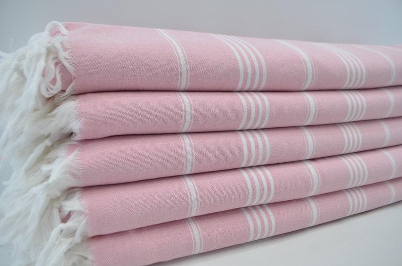 Cotton Blanket,White Striped Blanket,Light Pink Throw,Turkish Blanket,Turkish Throw,Soft Blanket,Sofa Cover,65x91,Bed Cover,B3-sultanB