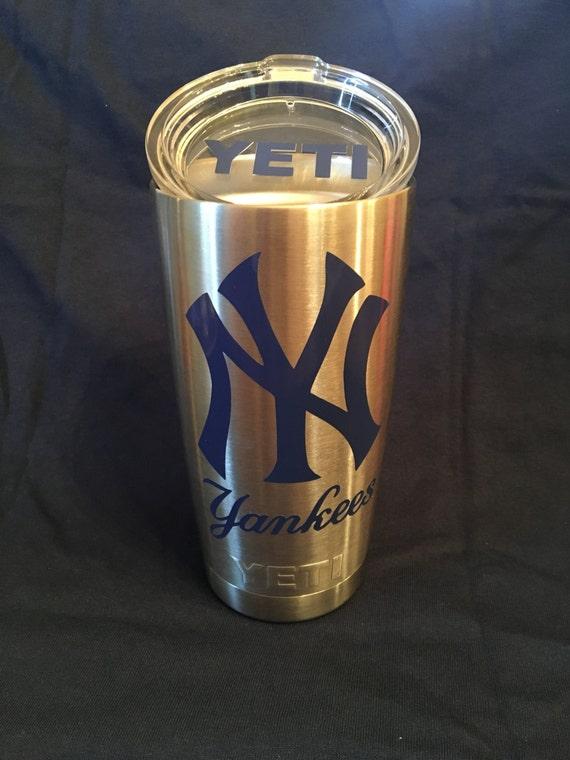 NY Yankee YETI Decal, New York Yankee Vinyl Monogram Decal Sticker for  YETI, Ipad, Iphone, cellphone, car window, laptop
