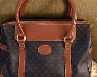 Vintage Gucci (1980's) Monogram GG Leather PVC Handbag