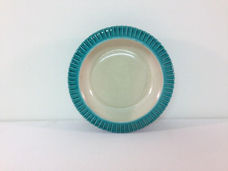 Gray gradient 1950s vintage gray ceramic ashtray VERCERAM France
