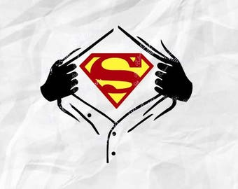 bd8e4ff2 superman svg superhero svg file ripped svg tshirt svg superman cut file  cricut superman silhouette superman dxf with superman opening shirt