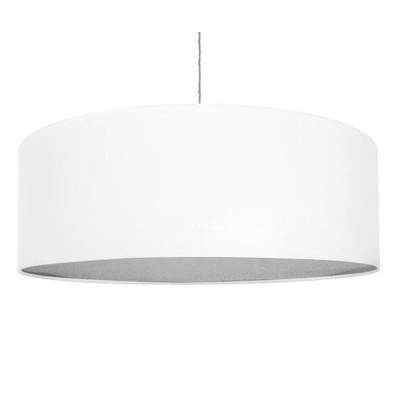 Extra Large 70cm 80cm Oversize White, White Drum Lamp Shade