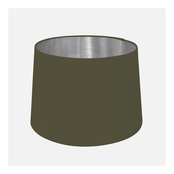 Army Green & Brushed Silver Tapered Lampshade Empire Cone Lamp Shade 20cm 25cm 30cm 35cm 40cm 45cm 50cm 60cm 70cm