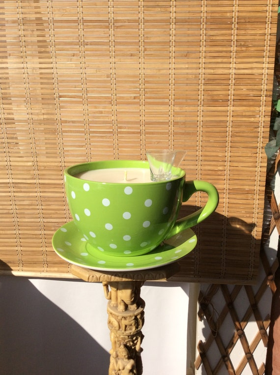 Giant Huge Big Tea Cup Candle Extra Large Size Tea Cup Etsy