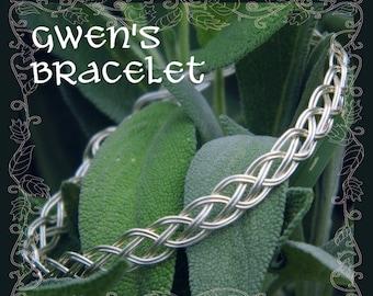 Celtic Bracelet Weaving Wire Tutorial // Jewelry Making Tutorial // DIY Jewelry // Jewelry Pattern // PDF Tutorial // Jewelry Instructions
