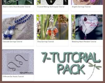 Jewelry Tutorial Pack  // Wirework Tutorial // Jewelry Making // Jewelry Instructions // DIY Jewelry // How To Make Jewelry // PDF Tutorial