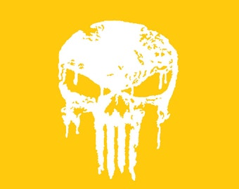 punisher stencil etsy