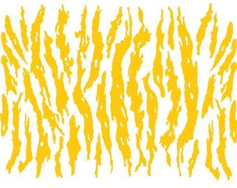 Tiger Stripe Stencil Etsy