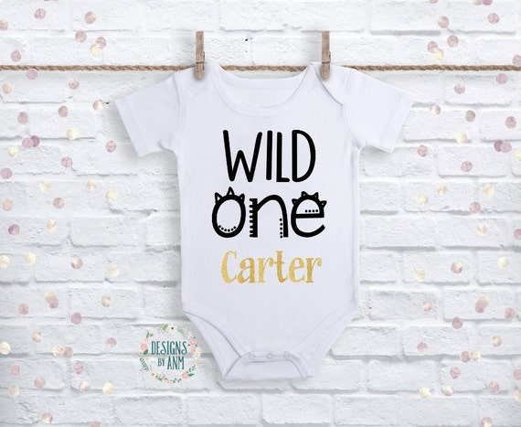 Wild One Shirt First Birthday Outfit Personalized