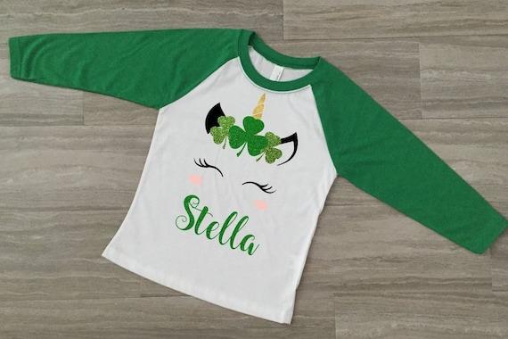 Personalized Girls St St Patrick\u2019s Rainbow Truck Shirt Patrick\u2019s Tee Girls St Patrick\u2019s Day Shirt