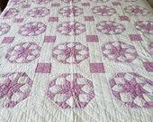 1930 39 s Lavender Feedsack eight point star quilt