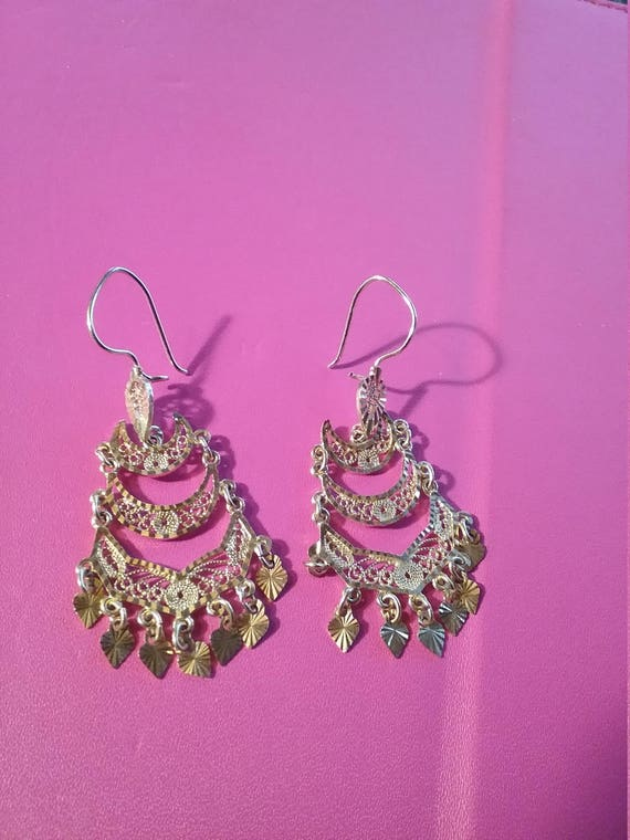 18kt Gorgeous Chandelier Earrings
