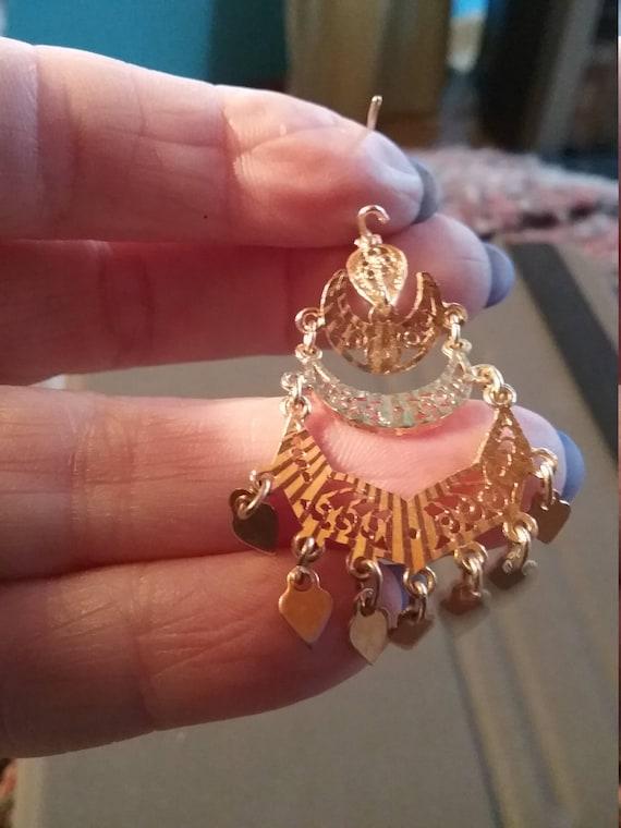 18kt Gorgeous Chandelier Earrings - image 4