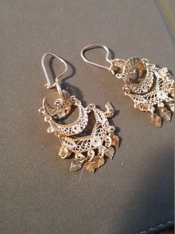 18kt Gorgeous Chandelier Earrings - image 6