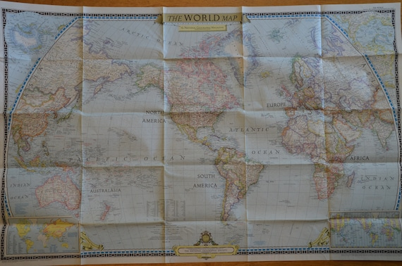 Authentic World Map From - Authentic world map