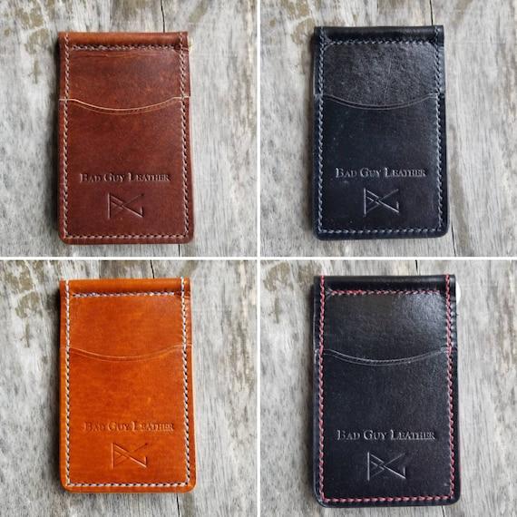 81e296ee86fcb Leather bi-fold wallet for man front pocket walletcard