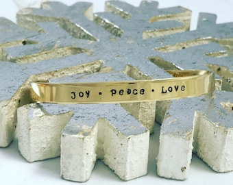 Joy • Peace • Love / Christmas gift / Secret Santa Gift / Religious jewelry