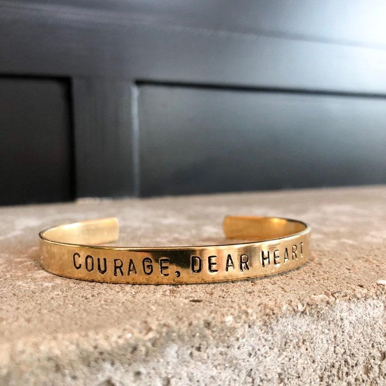 Courage Dear Heart / Chronicles of Narnia / CS Lewis / Aslan image 0