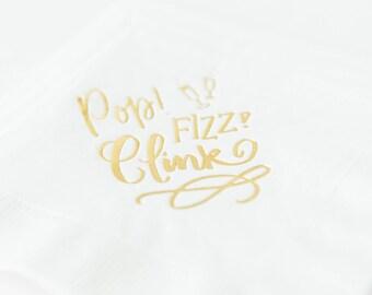Pop, Fizz, Clink! Cocktail Napkins