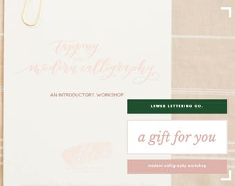 Gift Certificate for Lewes Lettering Co.'s Modern Calligraphy Workshop