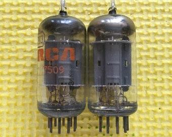 Matched Pair RCA 12AU7 12AU7A Vacuum Tubes Valves NOS-Testing