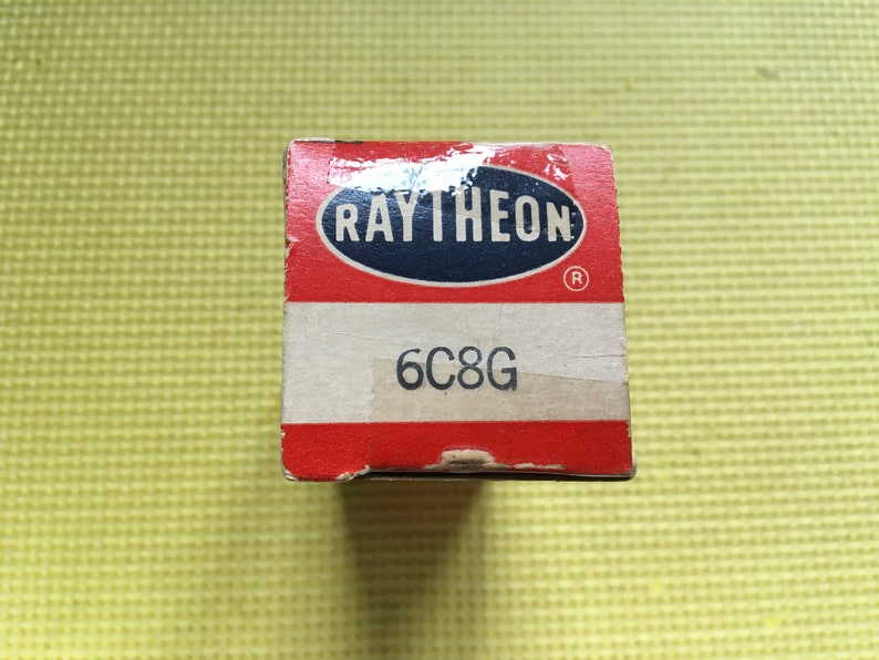 Raytheon 6C8 6C8G Vacuum Tube Valve NOS NIB