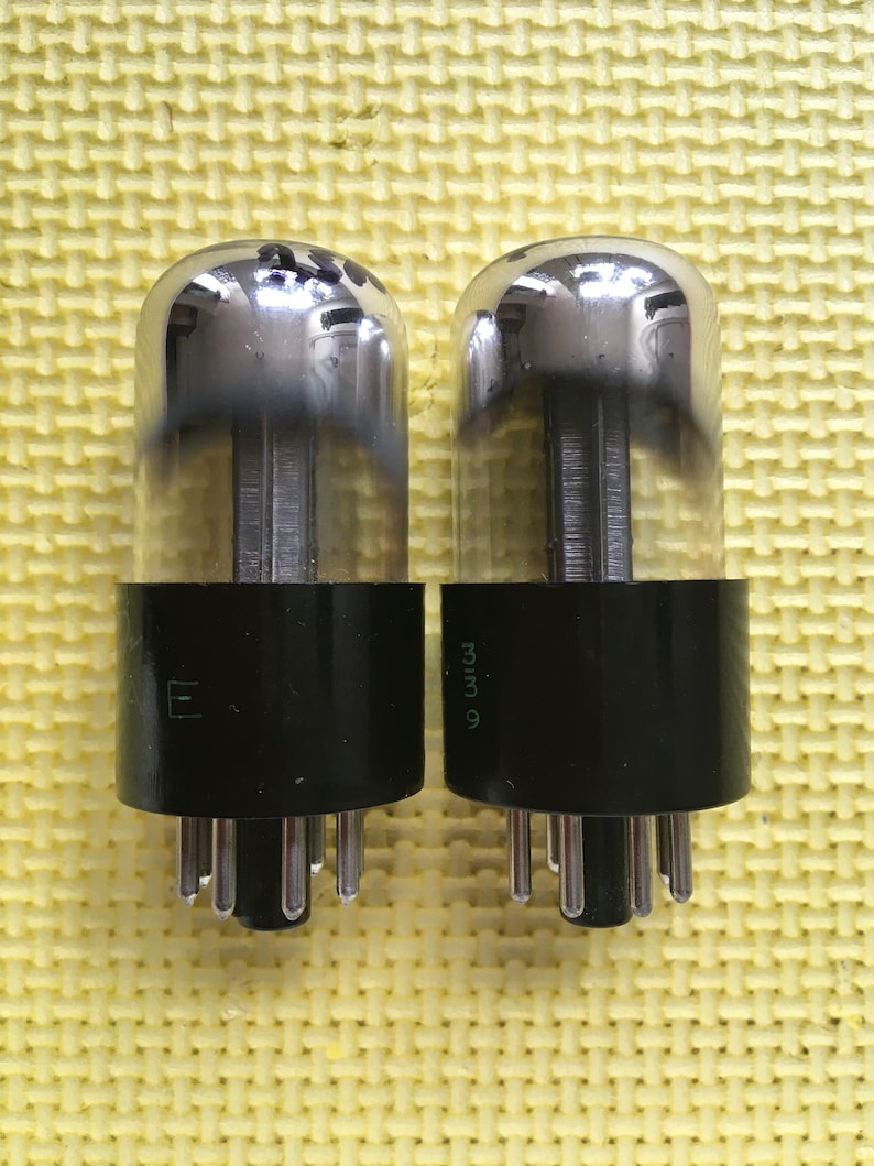 Matched Pair Sylvania Bad Boy 12SN7 12SN7GT Vacuum Tubes Valves NOS NIB